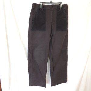 GAP Wide Leg High Rise Crop Chinos Pants Black Wom